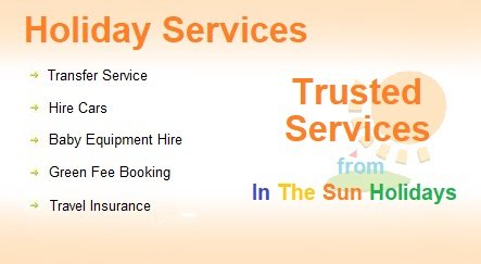 Services Offered by In The Sun Holidays