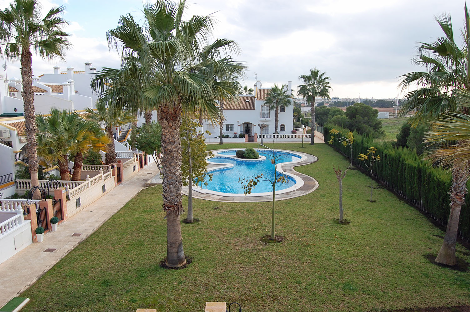 ITSH Property View from balcony o fthe Los Dolses apartment to the communal pool 2